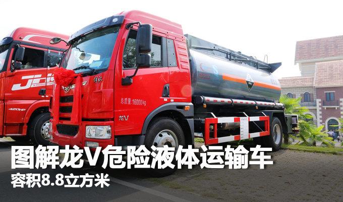 容积8.8立方米 图解龙V危险液体运输车